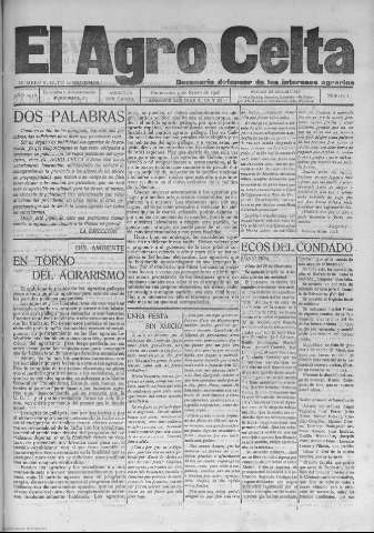 El Agro Celta : decenario defensor de los inter... (1926)